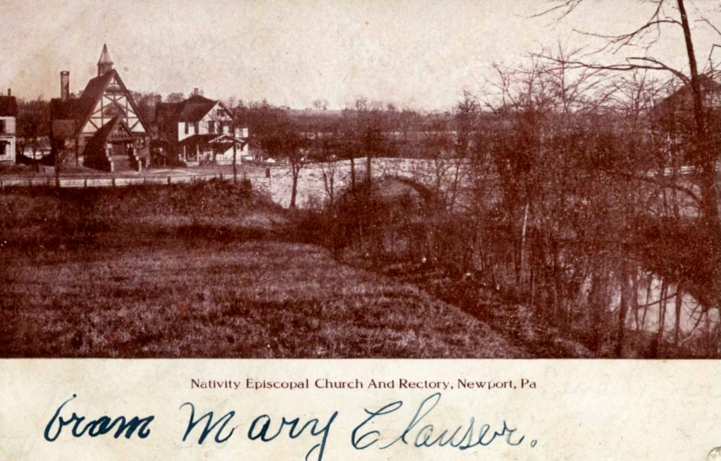1900 ca Church of Nativity and Rectory