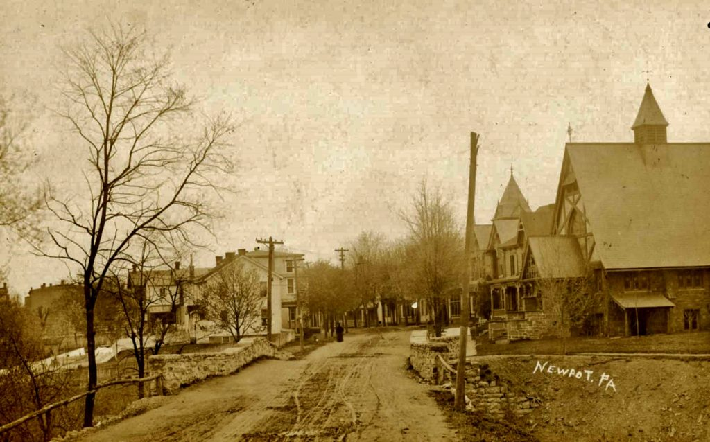 1900 ca Church of Nativity on unpaved 2nd St