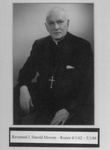 Mowen, The Rev. J. Harold 1962-1966